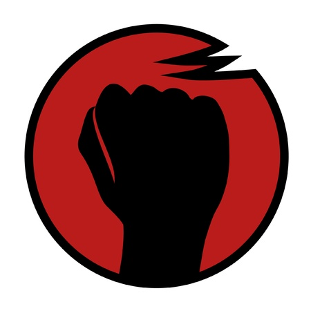 creative strength: Rebel fist symbol