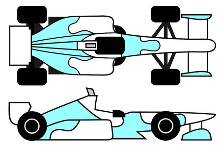 elite sport: Racing car with creative decor