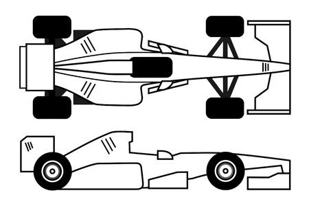 White racing car design Illustration