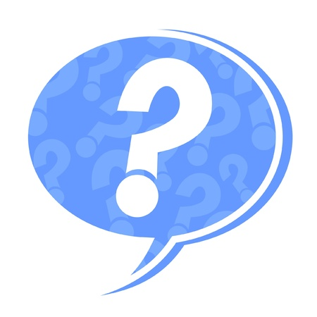 answer: Question mark on symbol of dialog