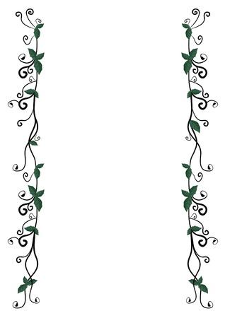 margin: Creative design frame with leaves Illustration