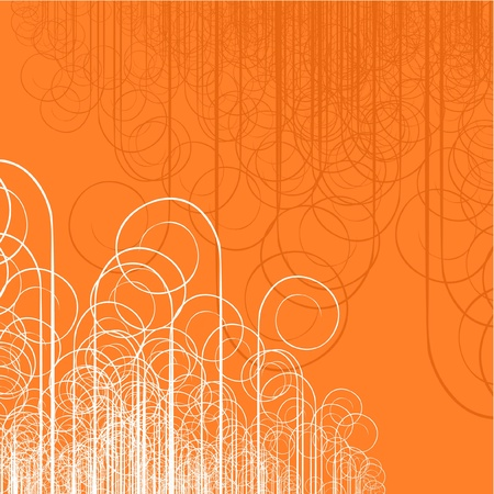 Orange background with creative design Иллюстрация