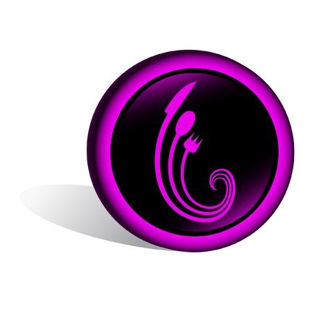 gastfreundschaft: Schwarz-Signal mit einer Koch-Design Illustration