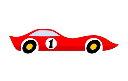 Aerodynamic red car