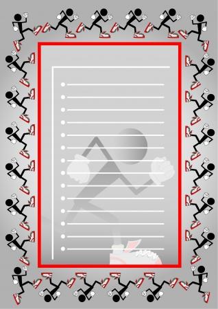 glove puppet: Registration form with athletic design Illustration
