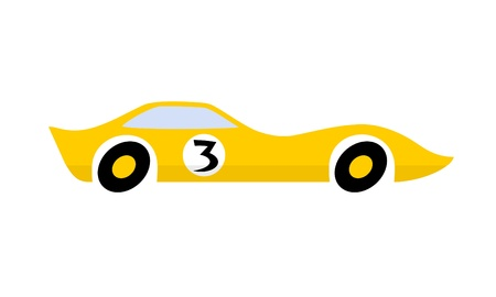 Yellow car Stock Vector - 10274675