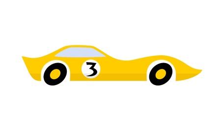 aerodynamics: Yellow car