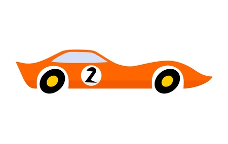 Car with the number two