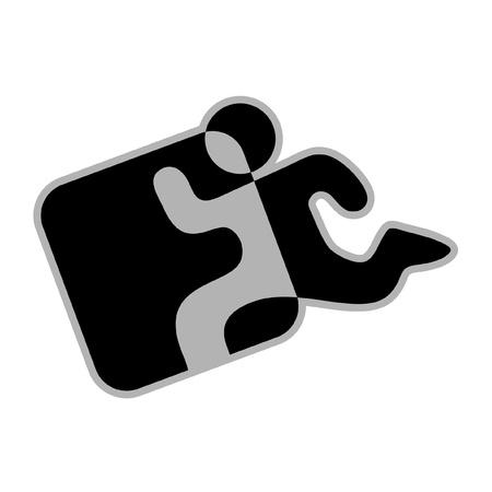 Símbolo abstracto representa la salida