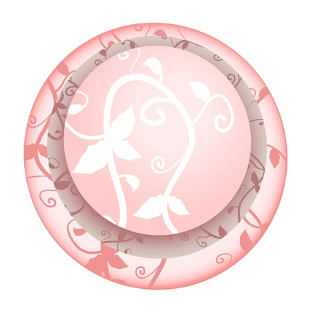 Circular abstract background with floral design Stock Vector - 10292588