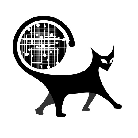 cat walk: Icon abstract animal