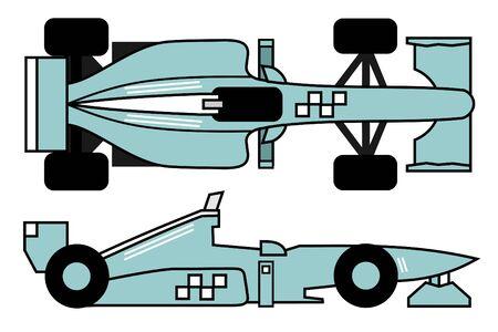 Creative design of racing car Vector