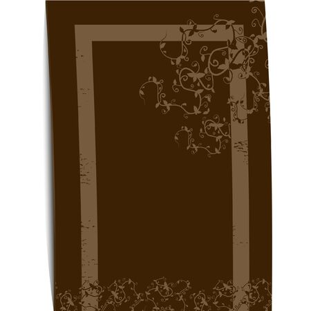 Design of brown cover Vector