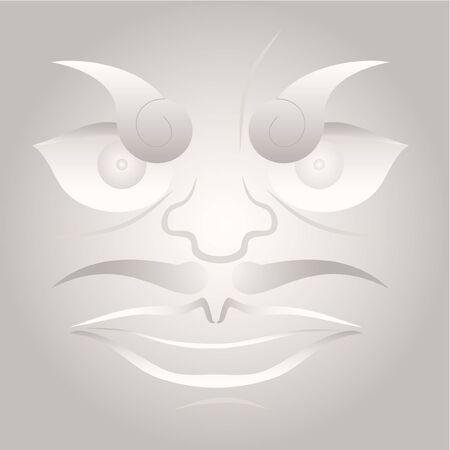 buda: Creative illustration of face Illustration