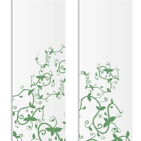herbaceous: Creative nature banners Illustration