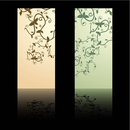 mirrored: Two floral banners