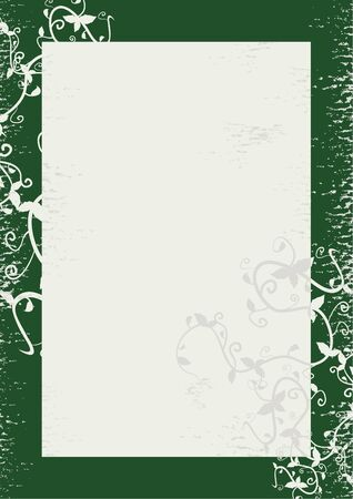 Green frame to decorate Vector