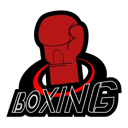 knocking: Design of creative boxing sign Illustration