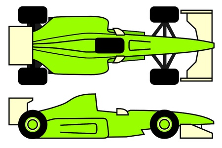 Green racing car Stock Vector - 10362256