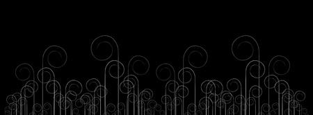Abstract horizontal dark banner Stock Vector - 10375256