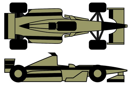 Creative competition car at two positions  Vector