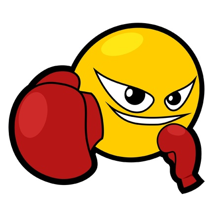 Boxing smiley face icon Vector