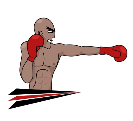 Black professional boxer Vector
