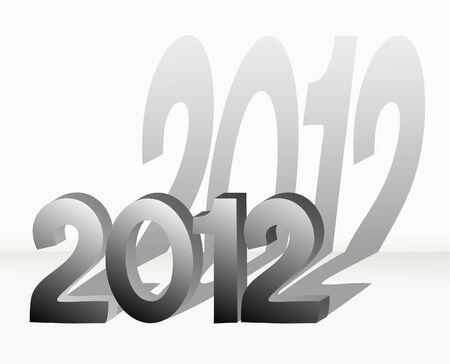 Metal 2012 design Stock Vector - 10414190