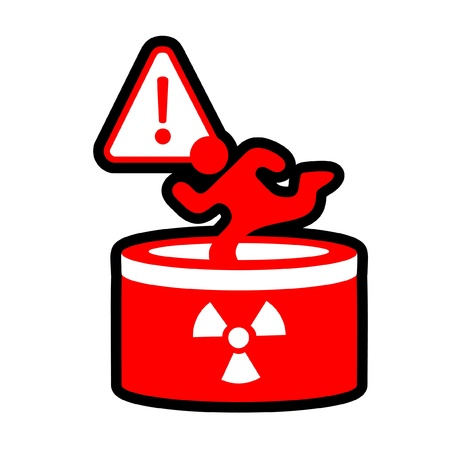Danger of falling radioactive hole Stock Vector - 10415003