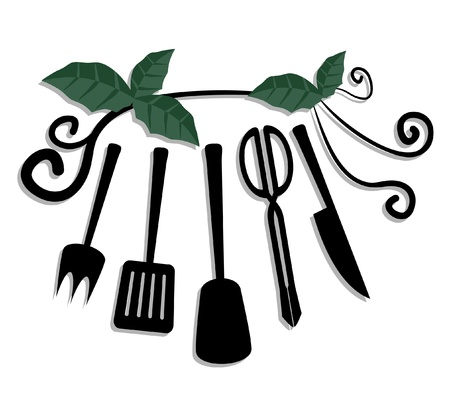 vegetate: Decorative elements of cook Illustration