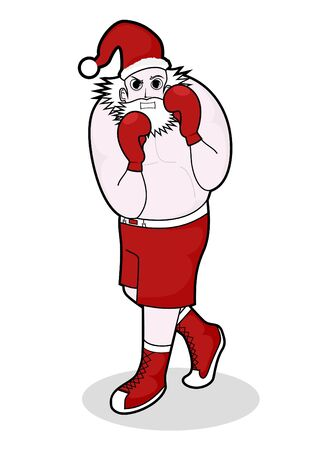 Santa claus boxing Stock Vector - 10415007