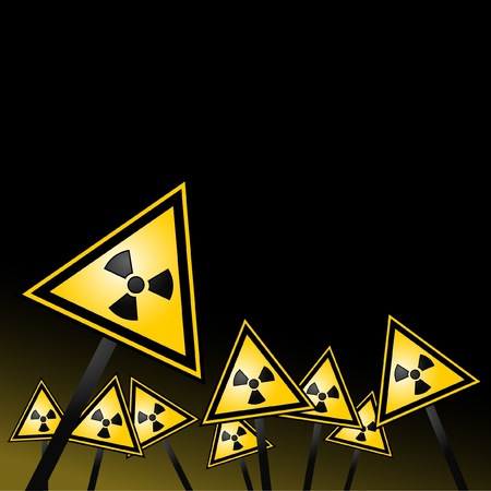caution chemistry: Signs warning of the existence of radiation  Illustration