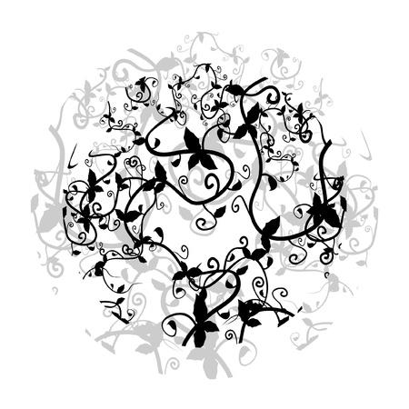 Decorative floral circle Stock Vector - 10522438