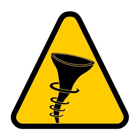 Hurricane warning signal Stock Vector - 10435962