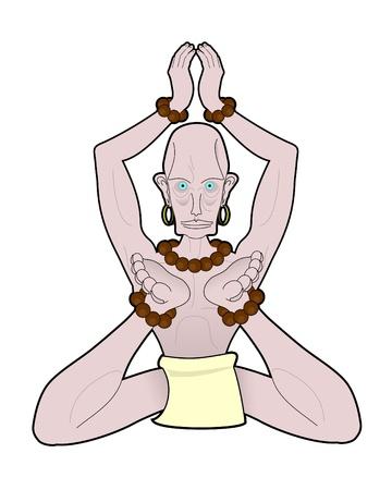 contortion: Mystic character meditating