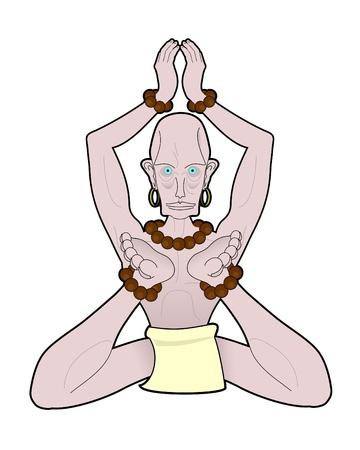 pygmy: Mystic character meditating