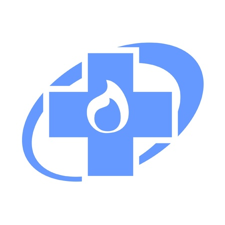 sanificazione: Icona ovale della medicina