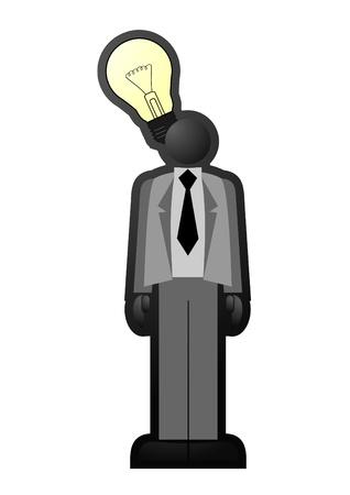 Businessman having an idea Stock Vector - 10444672
