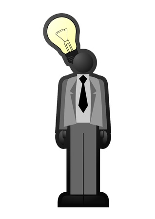 Businessman having an idea Stock Vector - 10444672