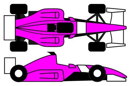 Pink racing car