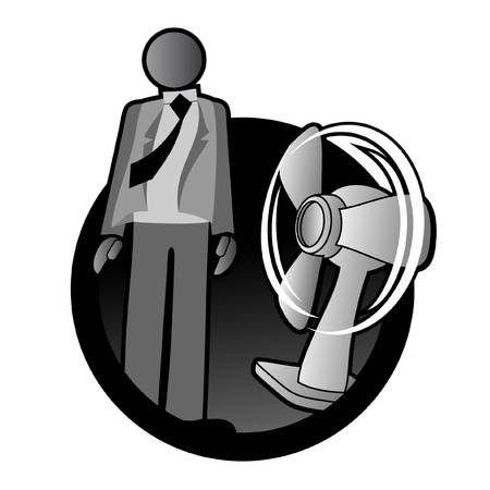 Cooling with fan Stock Vector - 10444698