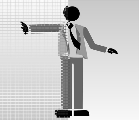 Abstract puppet with suit Stock Vector - 10519685