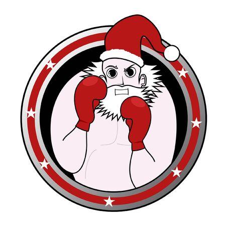 disfrazados: Emblema de boxeo de Santa