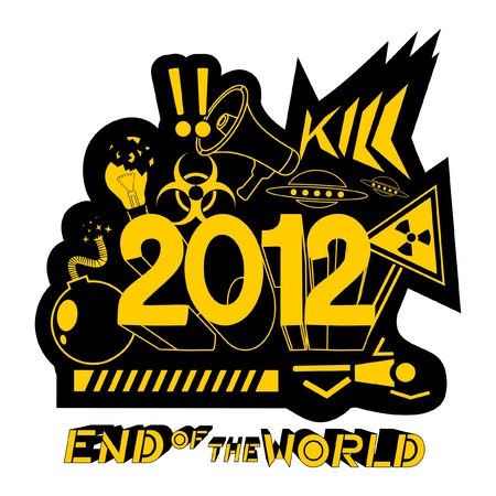 Message of end of the world Stock Vector - 10530146
