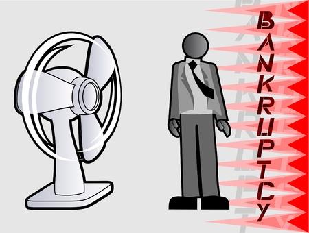 faillite: Entrepreneur accul�es � la faillite Illustration
