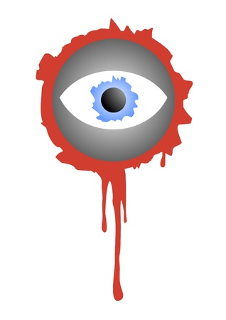 Bloody eye for decorating halloween Vector