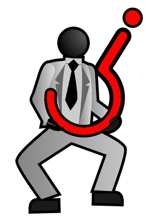 Businessman with uncertainty Stock Vector - 10519690