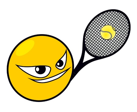 Playing tennis Stock Vector - 10519693