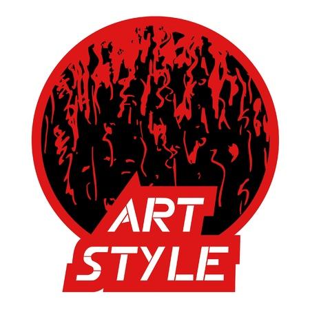 Art style icon Stock Vector - 10584707
