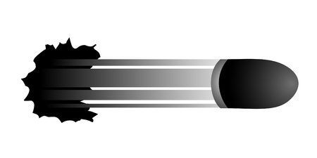 piercing: Bullet breaking the background Illustration